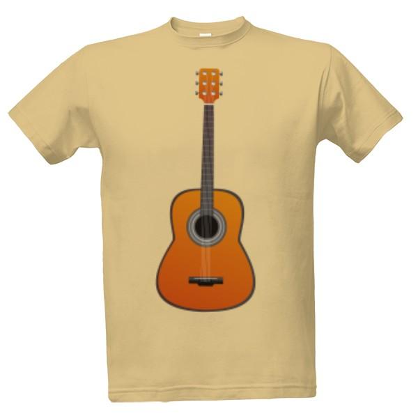 Tričko s potiskem Kytara
