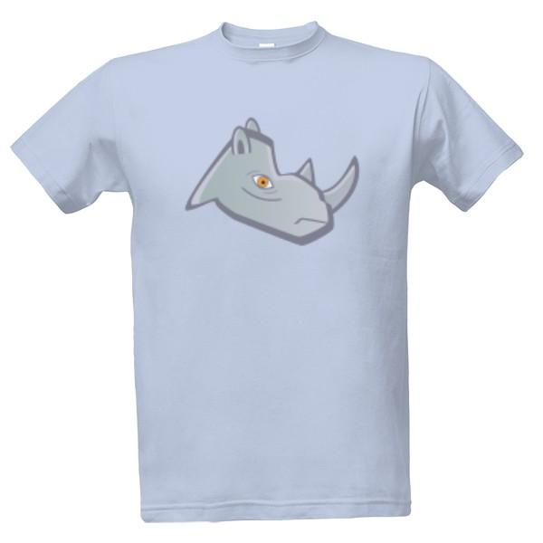 Tričko s potiskem Nosorožec