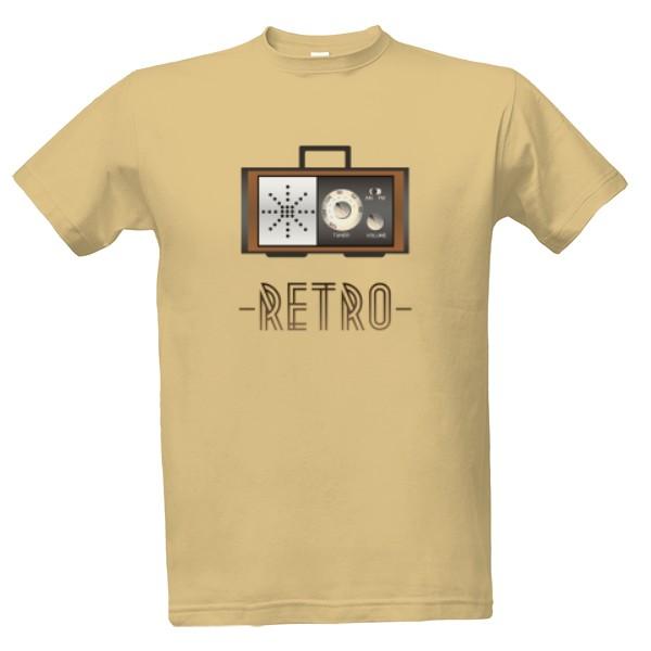 Tričko s potiskem Retro radio
